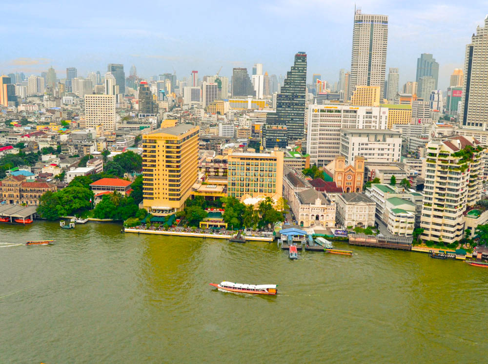 The Peninsula Bangkok - Aussicht vom Zimmer