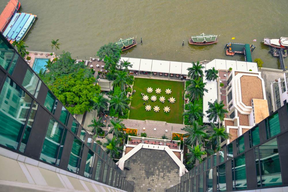 The Peninsula Bangkok - Aussicht von oben