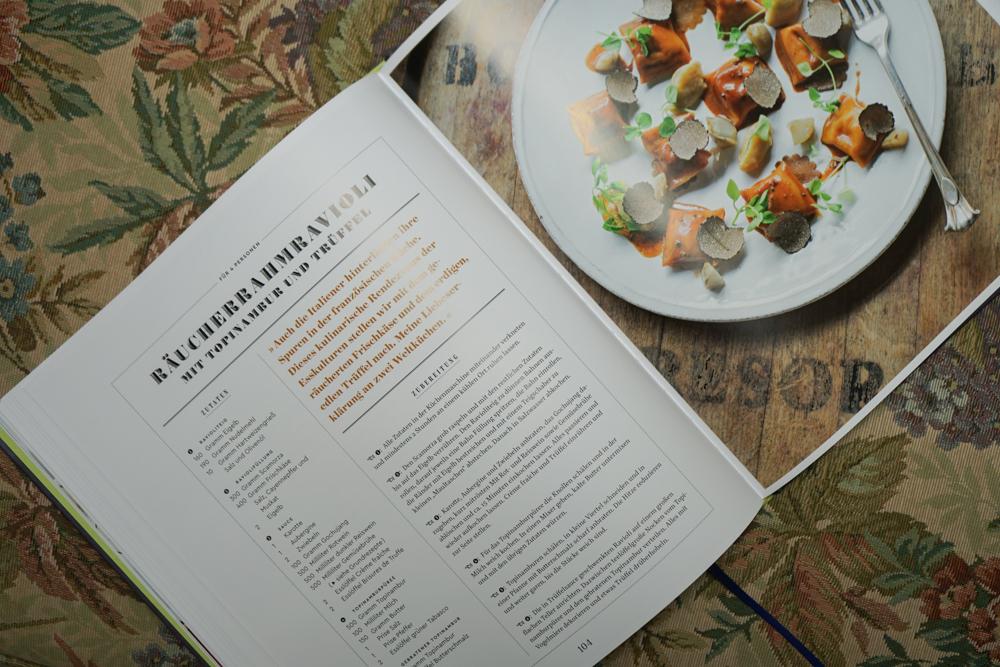 Tim Raue - Rezepte aus der Brasserie - Räucherrahm Ravioli