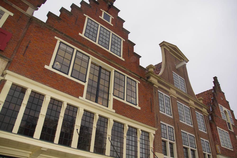 A-ROSA-Silva Rhein Erlebnis Kurs Amsterdam - Häuserfassaden in Hoorn
