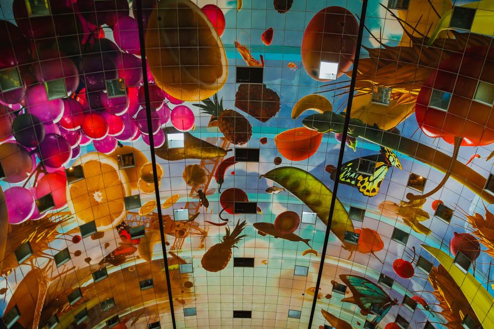 A-Rosa Silva - Kurs Amsterdam - Kunstwerk an der Decke, Markthalle Rotterdam