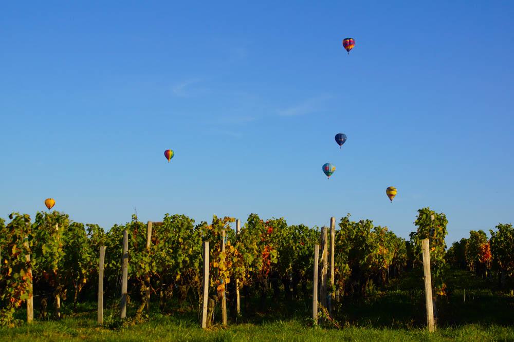 Chateau Franc Pourret, Saint-Emilion - Wein und Ballons