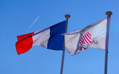 Chateau Villemaurine - St. Emilion - Französische Flagge