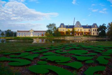Chateau` d Arsac mit Garten