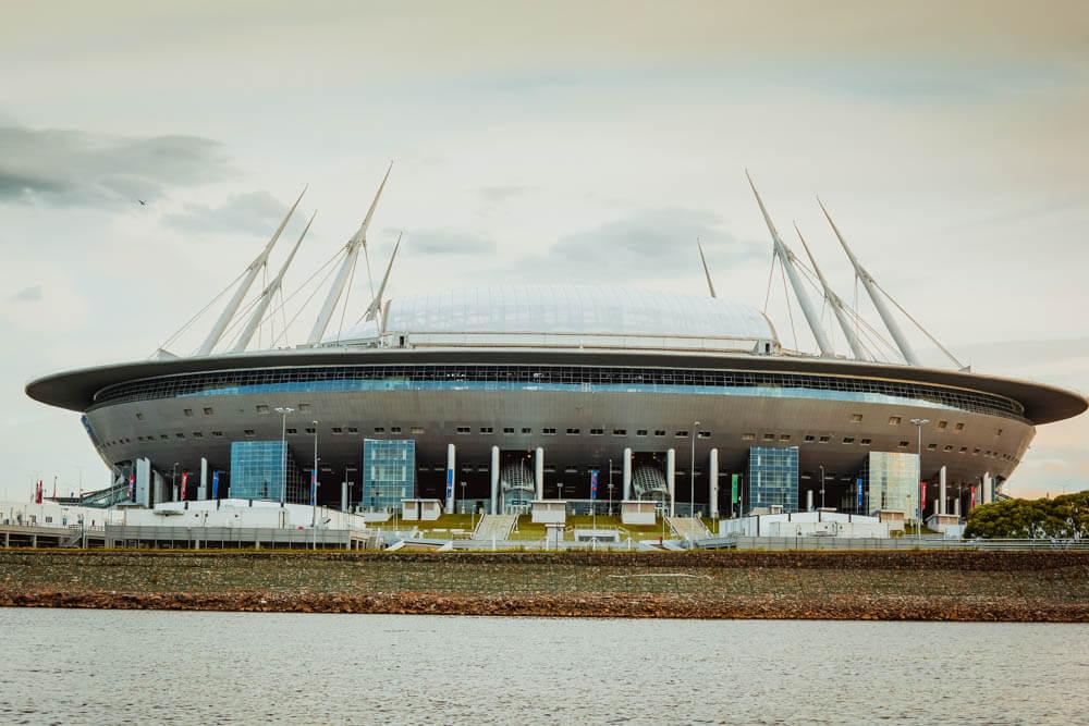 Chayka Restaurant, St. Petersburg - Das Fußballstadion für die WM 2018