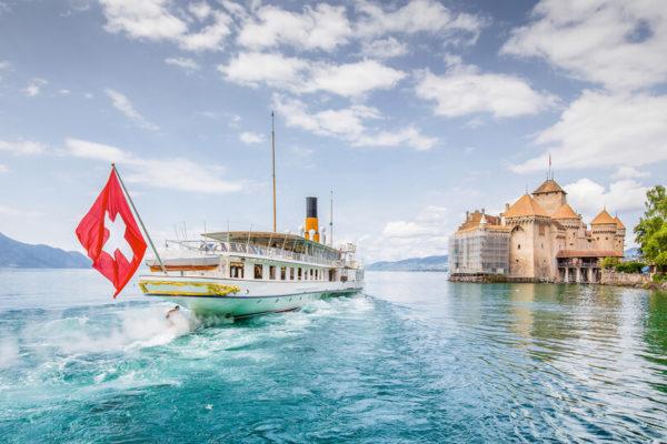 Genfer See im Sommer