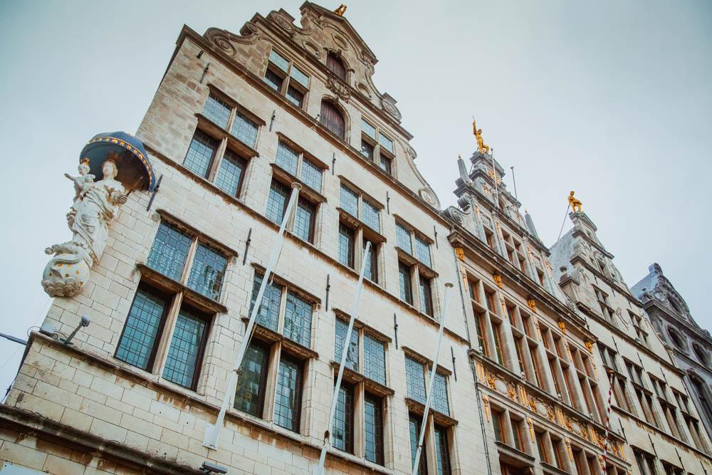 Häuserfassade in Antwerpen