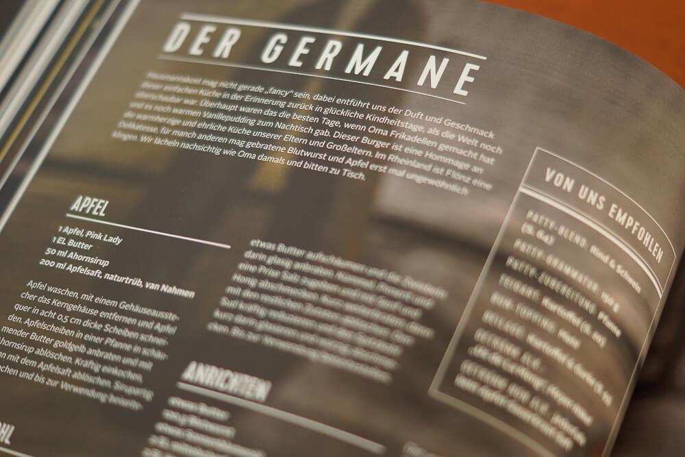 Burger Unser Kochbuch - Der Germane
