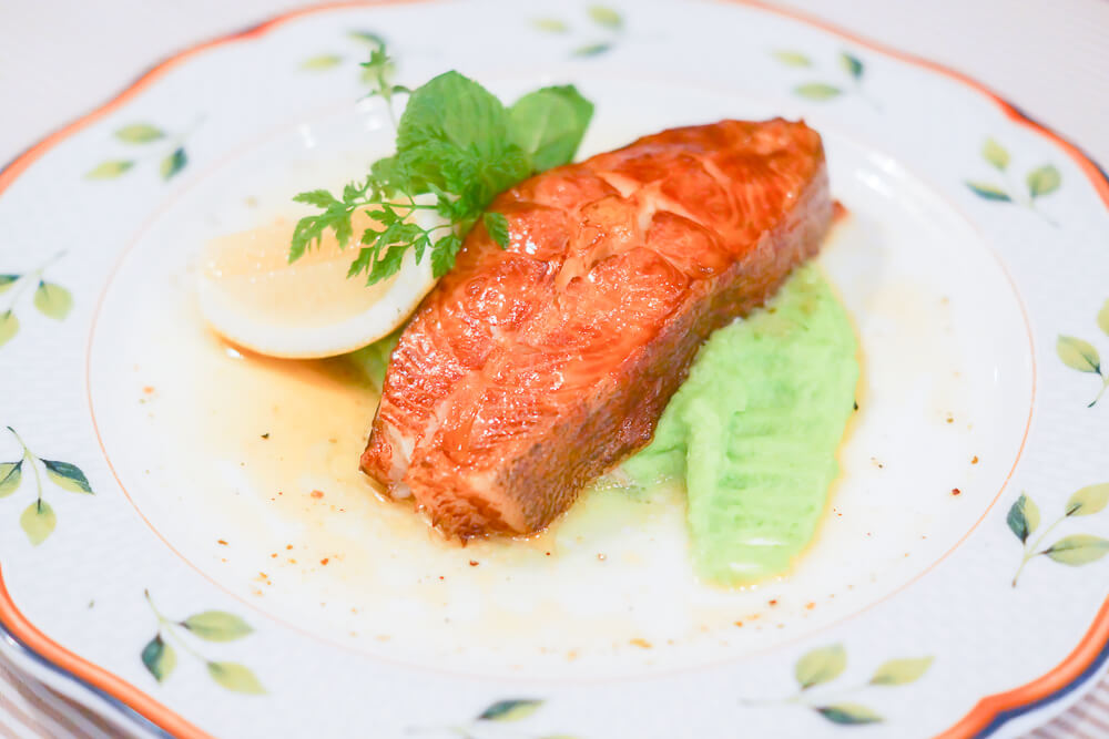 FermA Restaurant St. Petersburg - selbst geräucherter Heilbutt