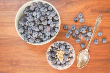 Rezept - Chiapudding mit Blaubeeren und Pinienkernen -4