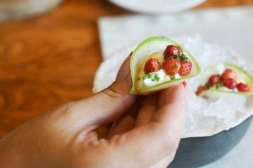 Selfie Restaurant Moskau - Radischen, wilde Erdbeere und Ziegenmousse 3