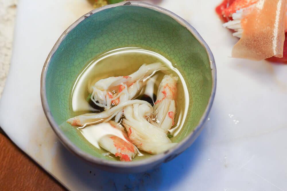 Twins Garden Restaurant Moskau - Auszug aus Krabben nd Tomaten