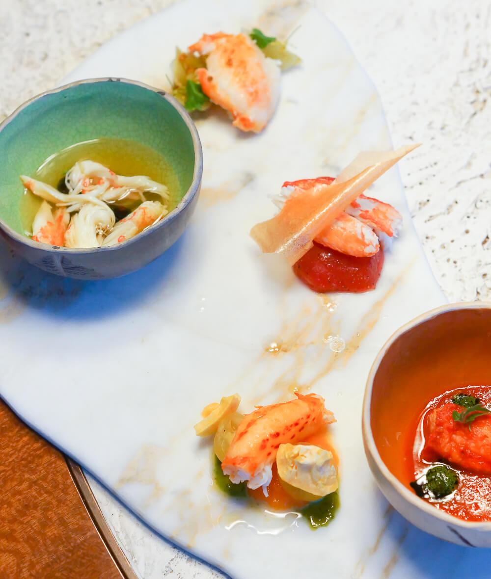 Twins Garden Restaurant Moskau - Krabben und Tomaten 1