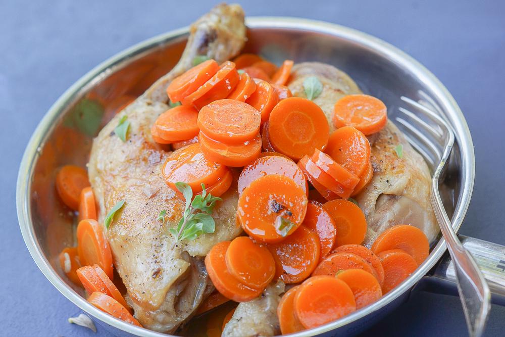 Maishähnchen-Keulen mit Kräuter-Karotten 2