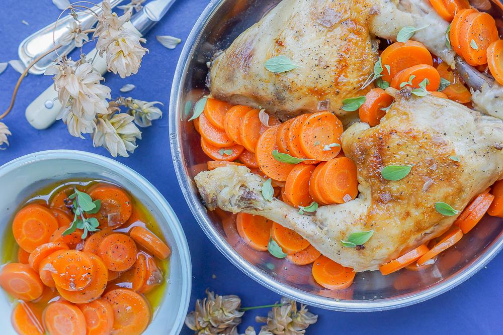 Maishähnchen-Keulen mit Kräuter-Karotten 3