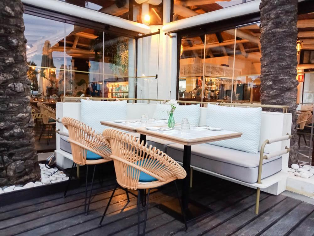 Kempinski Hotel Bahia - Tisch im Spiler Beach Club