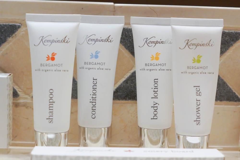 Kempinski Hotel Bahia - beste Hygieneartikel