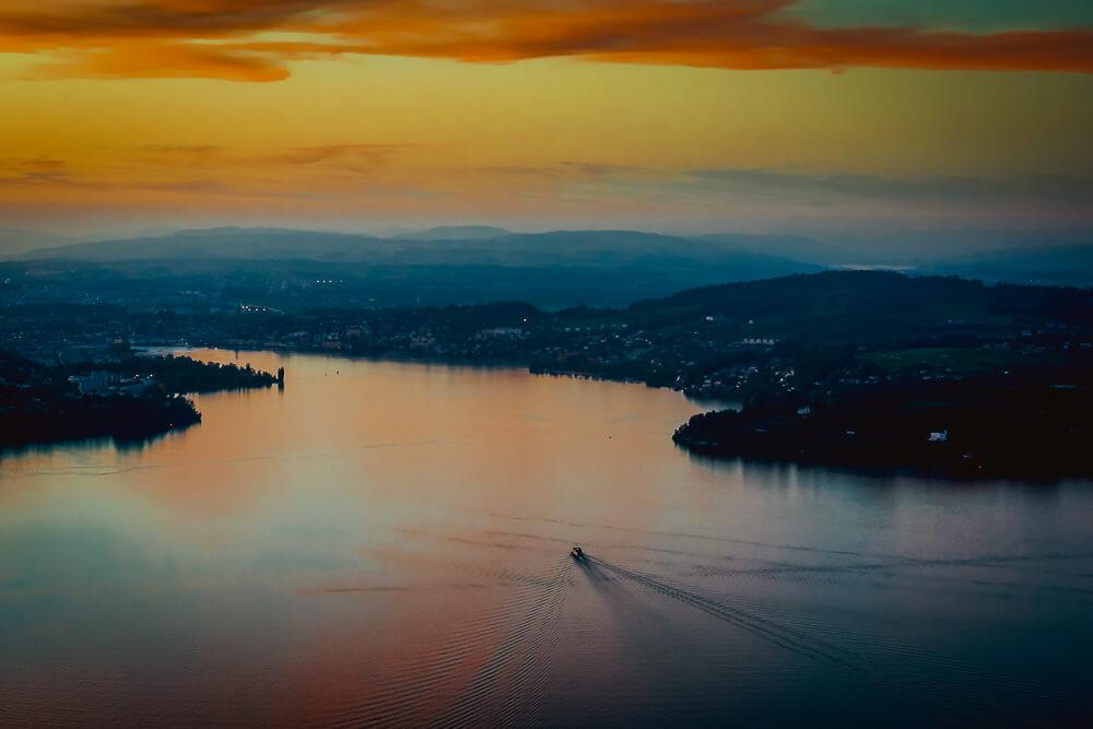 Bürgenstock Hotel - Abendstimmung über dem Vierwaldstätter See