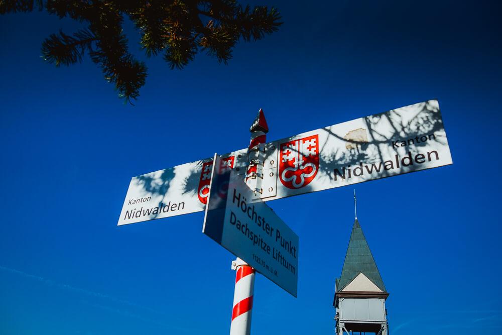Bürgenstock Hotel - Der höchste Punkt Dachspitze Liftturm