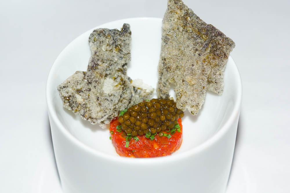 Mingles Restaurant - Koreanisches Beef Tartare mit Kaviar