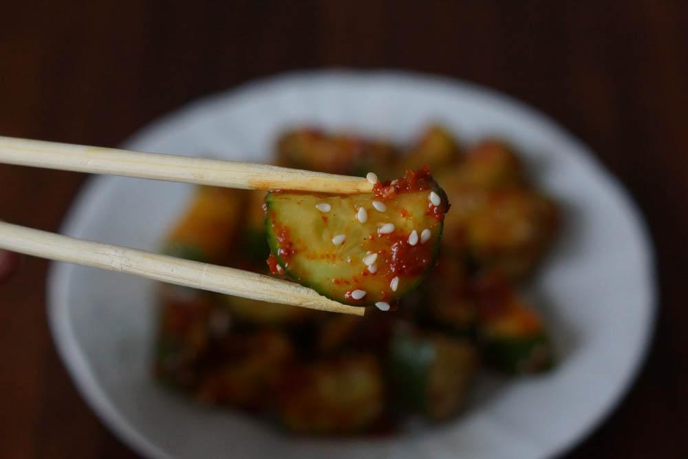 Oi Muchim - Scharfe koreanische Gurken