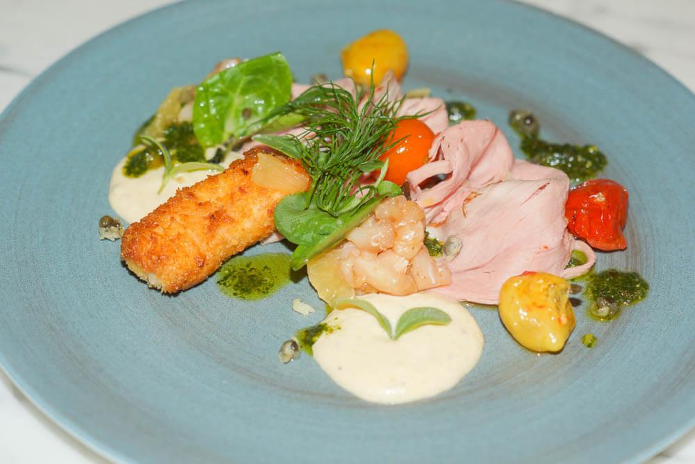 Stadt Restaurant Hamburg - Linumer Kalb und Schwertfisch