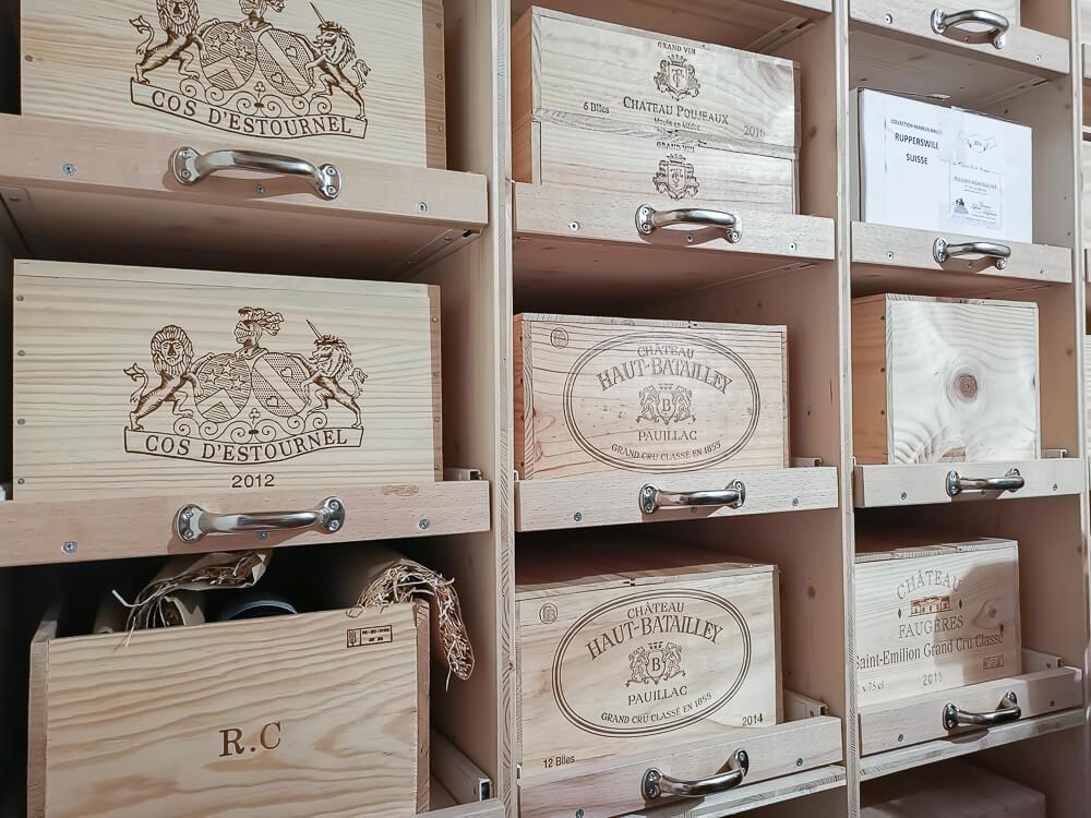 Waldhaus Sils Chefs Table - Der Weinkeller eine Auswahl