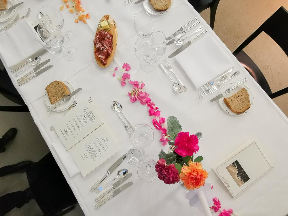 Waldhaus Sils Chefs Table - Ein schön gedeckter Tisch