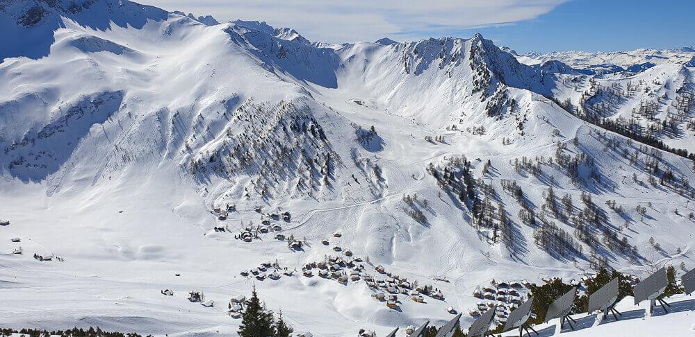 Restaurant Marée, Vaduz -Bergwelt im Winter in Liechtenstein