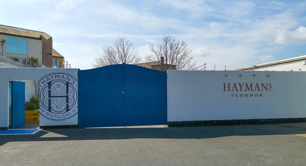 Haymans Gin - Eingang zur Firmenzentrale