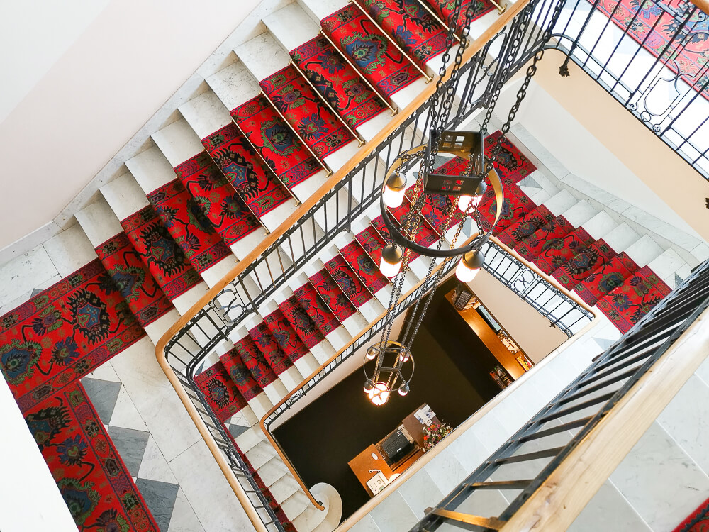 Hotel Waldhaus Sils - Treppenhaus
