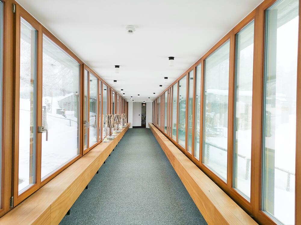 Hotel Waldhaus Sils - Tunnel zum SPA