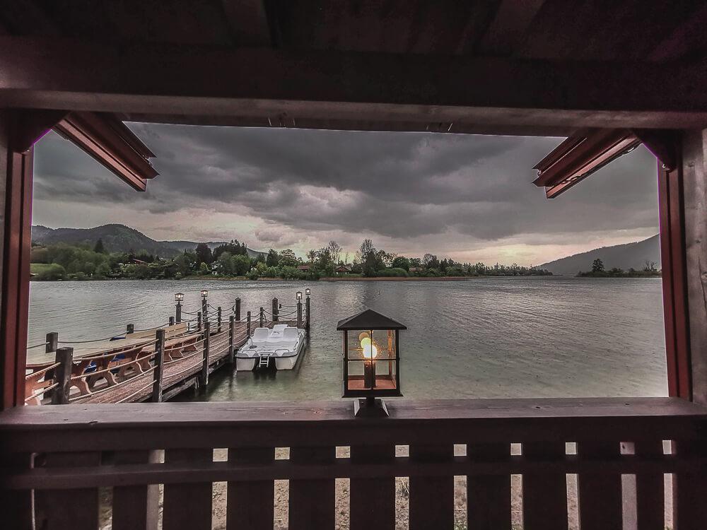 Fährhütte14 Rottach-Egern - stimmungsvolle Gewitterstimmung