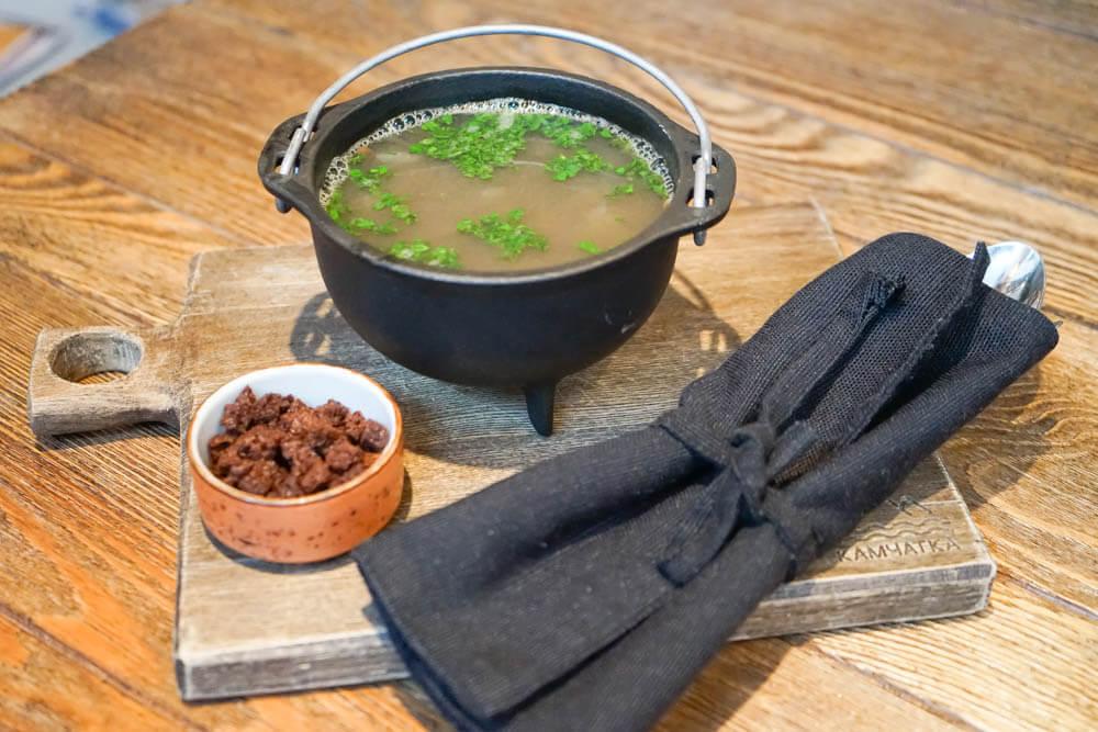 Kamchatka local Kitchen, Petropawlowsk - Elchfleisch Eintopf