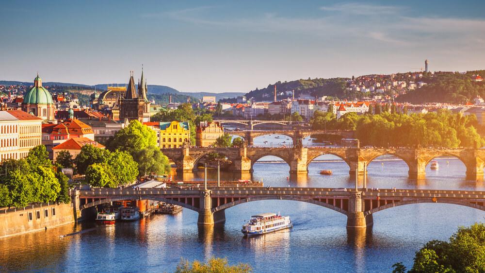Klassische Stadtansicht in Prag