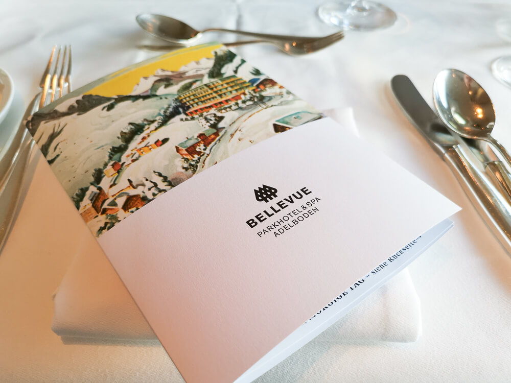 Parkhotel Bellevue & Spa Adelboden - Dinner Menue