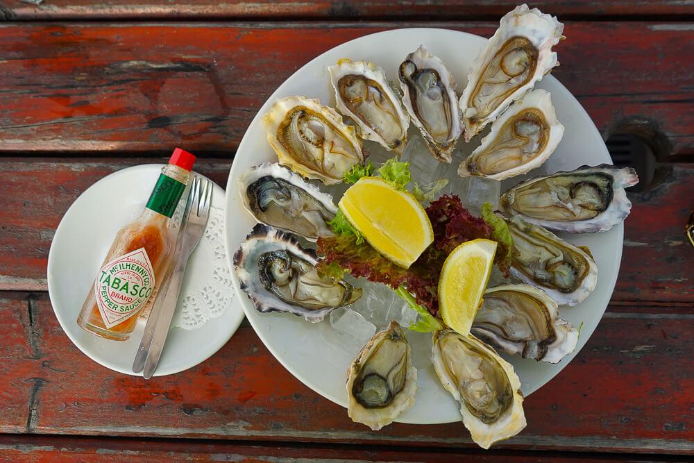 Austern mit Tabasco - einfach fein