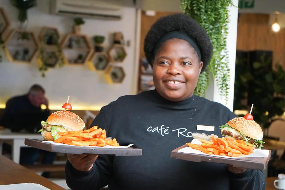 Café Roux und beste Burger in Noordhoek