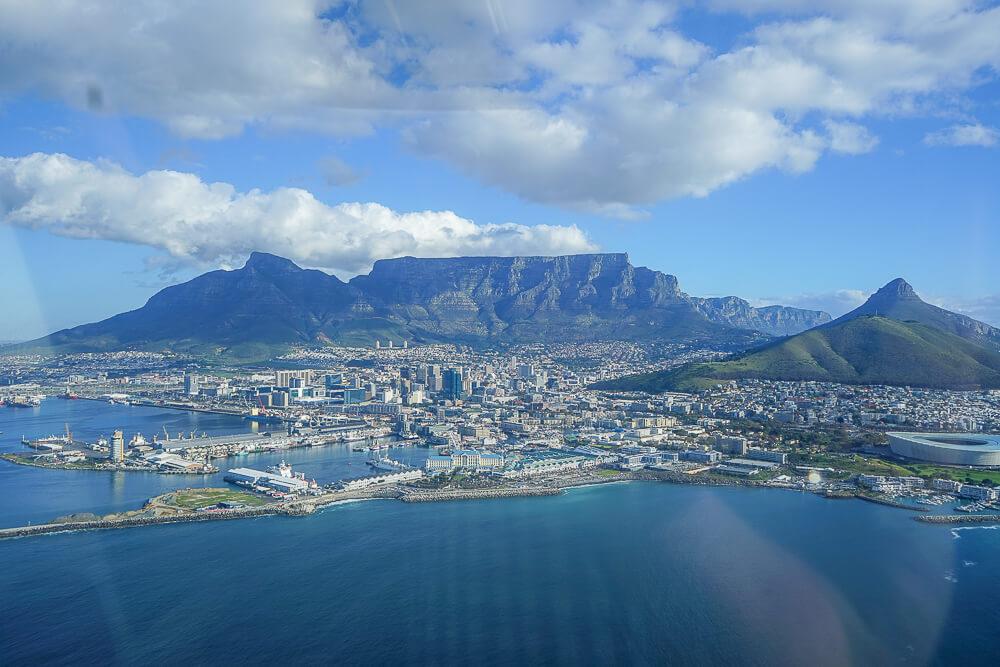 Kapstadt aus der Luft mit NAC Helicopters