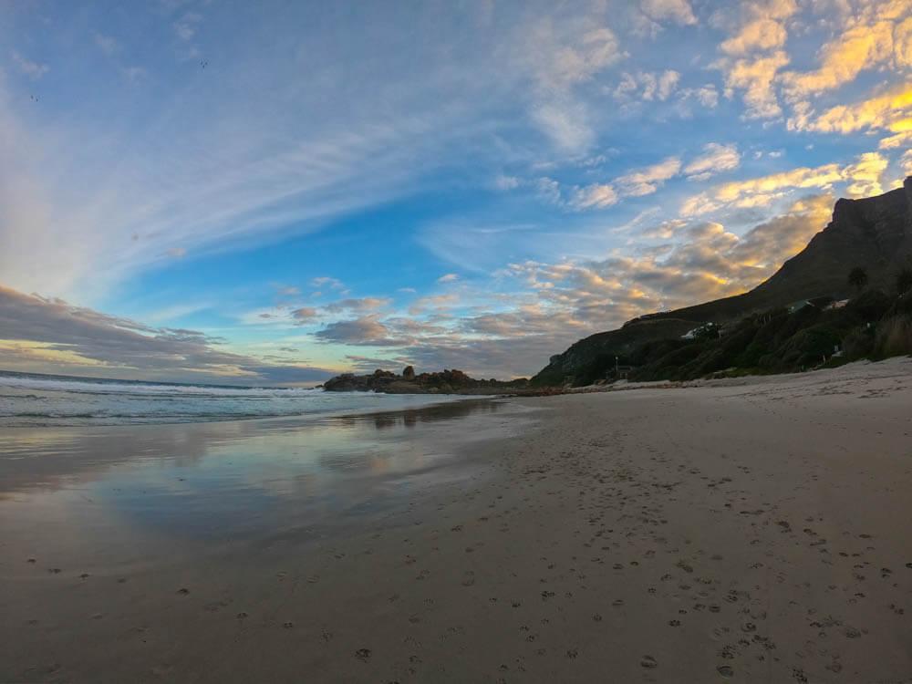 Llandudno Strand am Morgen