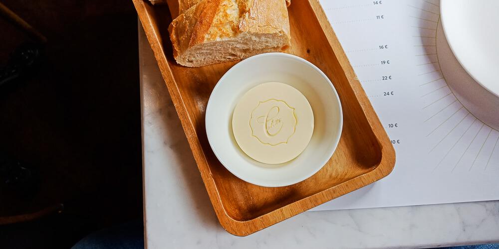 Colette by Tim Raue - gutes Branding selbst auf der Butter