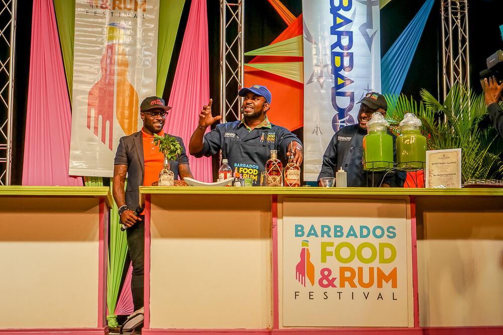 Food & Rum Festival Barbados - Bühne mit Cocktail Show