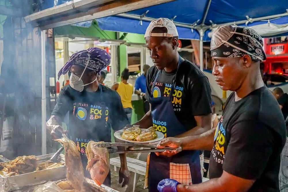 Food & Rum Festival Barbados - Grillen in Oistins