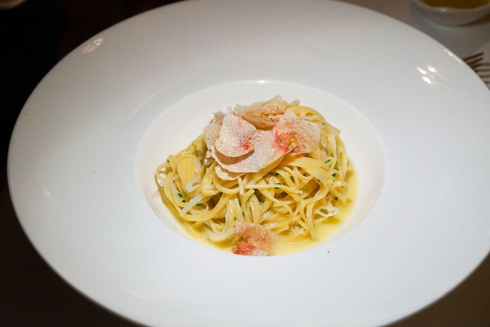 Carlton St. Moritz - Romanoff Restaurant - Fagotelli, Carbonara, weißer Trüffel