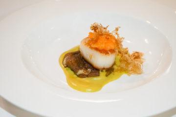 Cristina Bowerman, St. Moritz Gourmet Festival - Grilled scallops, white fish eggs, dashi, Mushroom