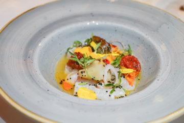 Kamilla Seidler, St. Moritz Gourmet Festival, Waldhaus Sils - Ceviche vom Zander, Koriander, Tomate