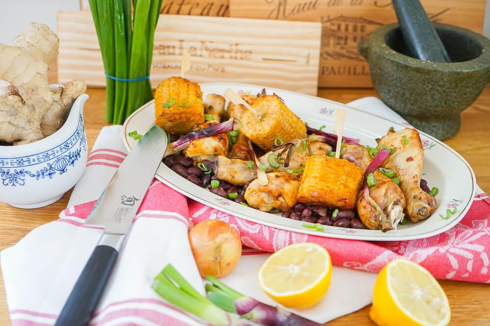 Curry-Hähnchen mit Bohnen und Mais 2