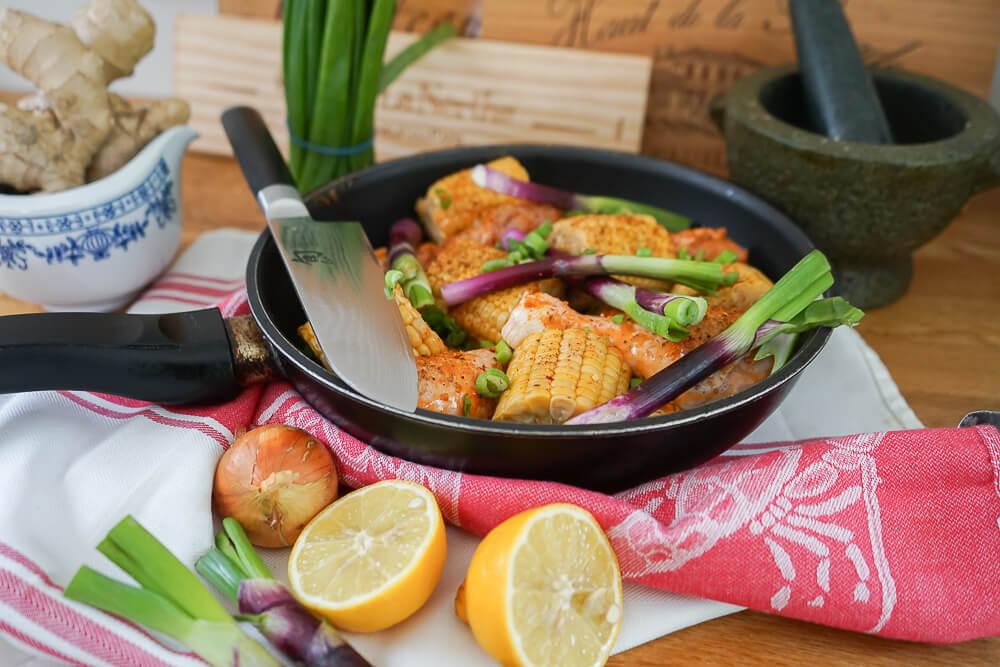Curry-Hähnchen mit Bohnen und Mais 3