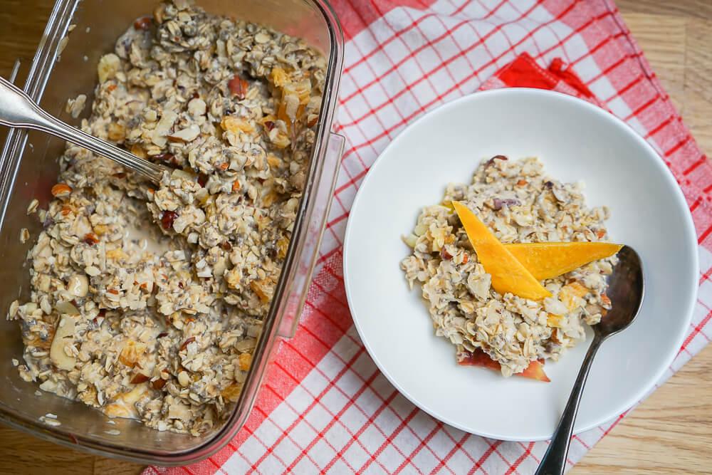 Meal Prep Frühstück - Feines Bircher Müsli für die ganze Woche
