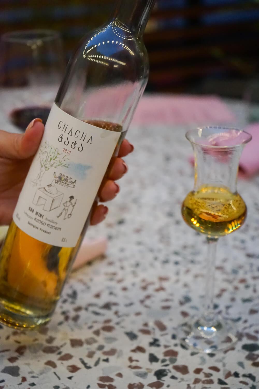 g.Vino Hotel & Restaurant Tiflis - Chacha zum Abschluss muss sein